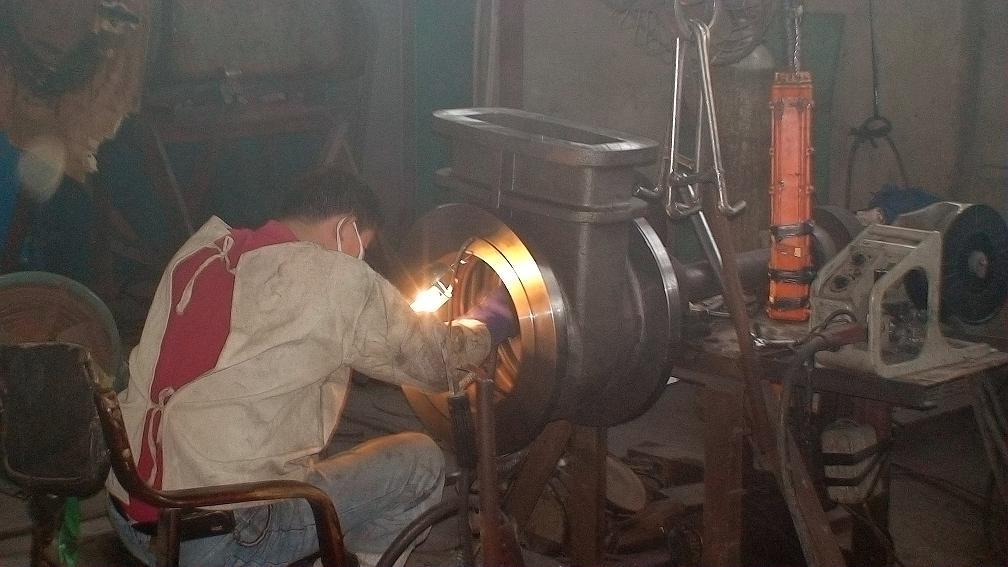 电焊焊阀座圈